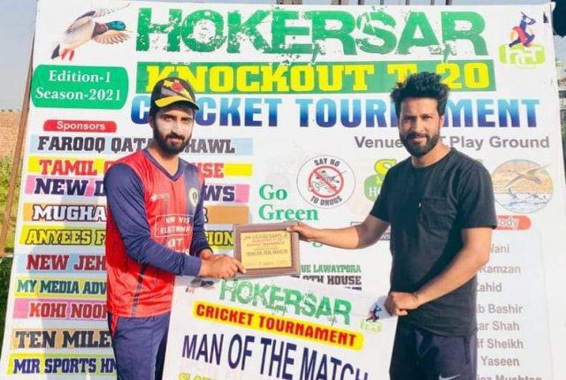 Hokersar T20: All-round Aqib leads Rangers to win over MM Motors. Pic/Hokersar T20