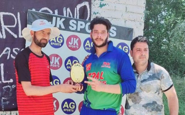 Charligund Cricket Tourney: Aasif Rasool, Mandeep Singh leads Tral Hunters to easy win. Pic/KSW
