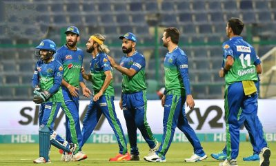 Babar Azam 's 85* in vain as Imran, Khushdil, Rossouw lead Sultans to win