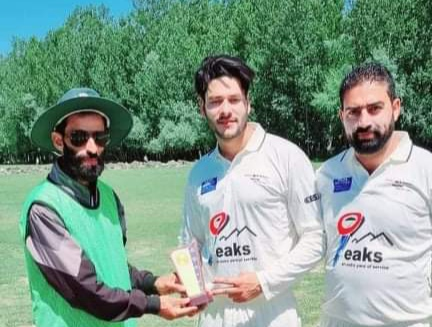 All-Round Asif Rasool leads Tral Hunters to win against Sardha XI. Pic/KSW
