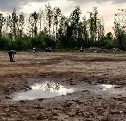 Ganderbal players rue dilapidated conditions of Playfield. Pic/KSW