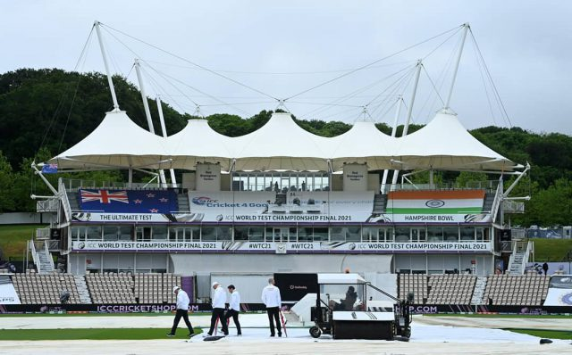 WTC Final: Teams unperturbed after rain washes out first day. Pic/ICC