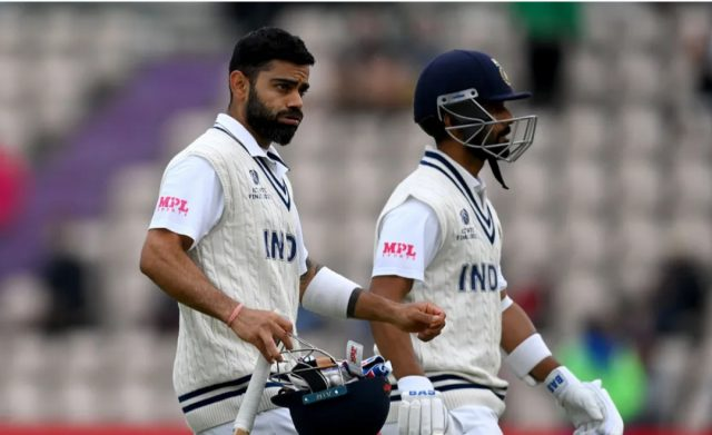 Virat Kohli unbeaten after hard-fought day in Southampton.Pic/ICC