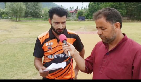 Harwan League: Tariq Rather stars in Team Sultan win against Baba Brothers. Pic/KSW