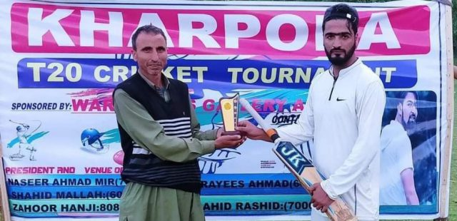 Kharpora League: All-round Shakir leads Hillow Sports to win. Pic/KSW