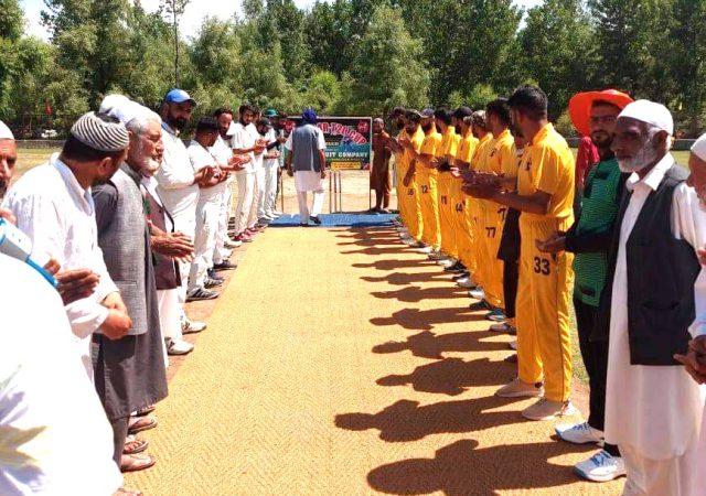 Alamdar T20 Cup inaugurated, Shahi Hamdaan Sports win match. Pic/KSW
