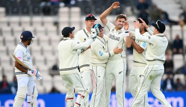 Southee stars as New Zealand eye victory on reserve day. Pic/ICC