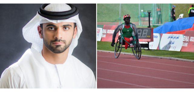 Mansoor Bin Mohammed helps fulfil Gambian Malang Tamba's Tokyo Paralympic dreams. Pic/Dubai Sports Council