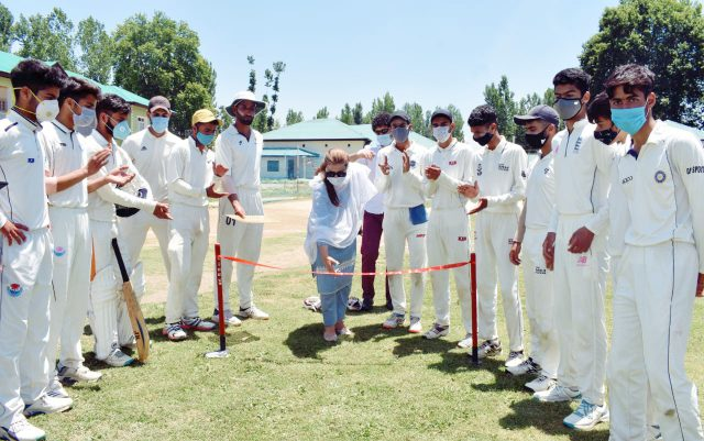 Sports Council starts coaching initiative for 300 youngsters in Bijbehara. Pic/KSW