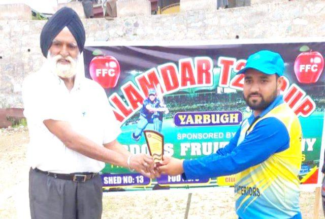 Alamdar T20 Cup: Ishfaq leads Wodora Strikers to win over Yarbugh XI. Pic/KSW