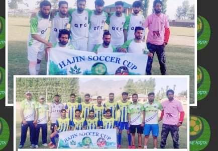 Soccer Cup Hajin: Qamarwari FC beat Kashmir Panthers FC. Pic/KSW