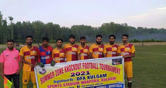 Summer Zone Tourney: FC Buraq, Real Wanpora winn matches. Pic/DFA Kulgam