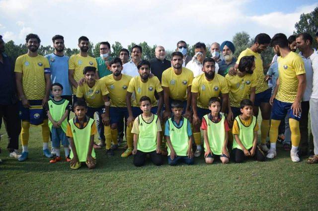 Real Kashmir FC beat SWFC in Bilaliya Knockout tourney opener. Pic/KSW