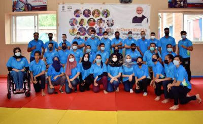 Olympic T-Shirts distributed amoung prominent players, officials