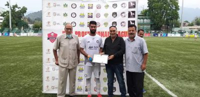 JKFA Professional League: Unstoppable Aakif Reshi guides J&K Bank FC to another win
