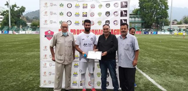 JKFA Professional League: Unstoppable Aakif Reshi guides J&K Bank FC to another win. Pic/KSW