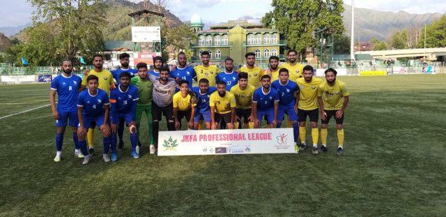 JKFA Professional League: Real Kashmir FC crush Shaheen FC 5-0. Pic/KSW
