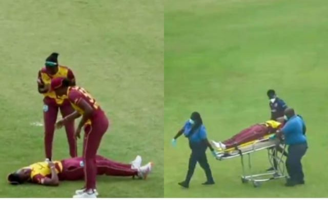 2 West Indies women cricketers collapse on field during 2nd T20I against Pakistan. Pic/Screengrab