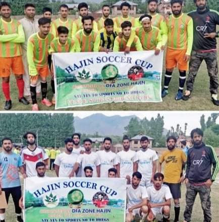Hajin Soccer Cup: Chinar FC beat Gulshan Blues. Pic/KSW