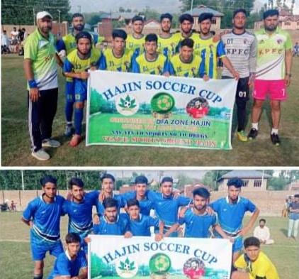 Soccer Cup Hajin: Ganderbal Academy beat Kashmir Panthers Academy. Pic/KSW
