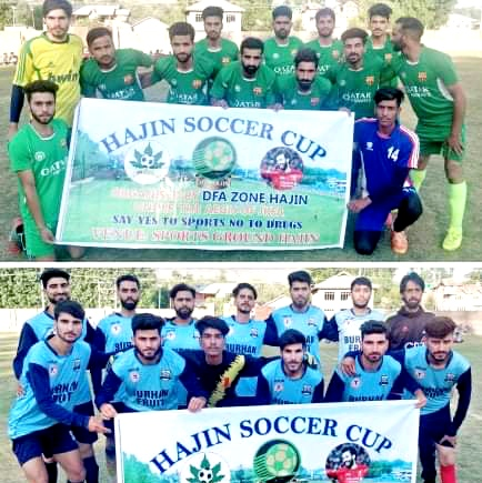 Hajin Soccer Cup: JFC Bathipora beat Amar Sports 2-0. Pic/KSW