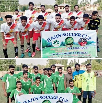 Hajin Soccer Cup: Alamdar Goshbugh beat Young Boys Hajin 2-0. Pic/KSW