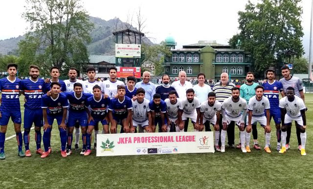 Pro League: Kashmir Avengers crush SFA 5-0, 4th straight defeat for Sports Council side. Pic/KSW