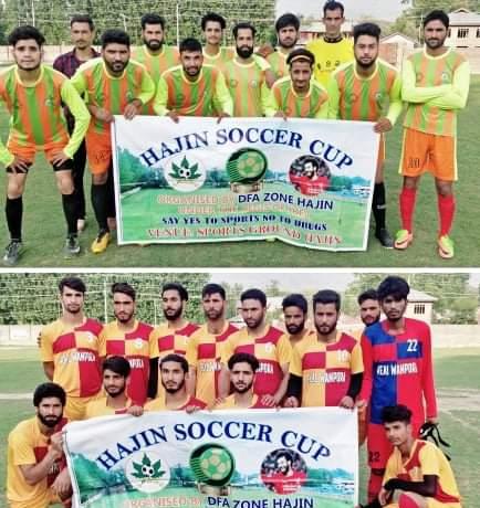 Hajin Soccer Cup: Chinar FC Kulgam beat Chinar FC Hajin . Pic/KSW