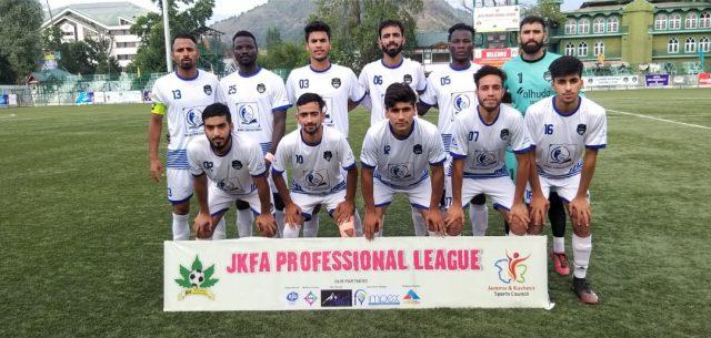 JKFA Professional League: Kashmir Avengers FC beat Real Kashmir FC 3-0. Pic/KSW