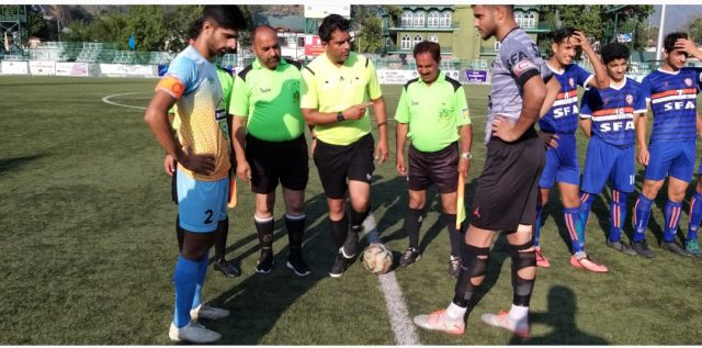 JKFA Professional League: SFA held Downtown Heroes to shock draw. Pic/KSW