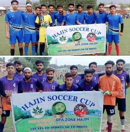Hajin Soccer Cup: FC Ganderbal Academy beat Royal FC Naidkhai Pic/KSW