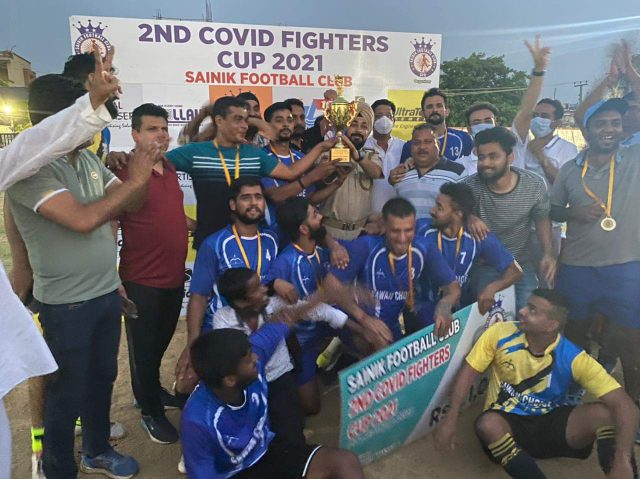 Shri Ram football club win 2nd Covid Fighter Cup. Pic/KSW