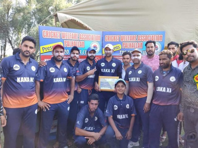 Super Cup Palhallan: KAKA XI beat BCC Reds Baramulla in an inaugural match by 7-wkts. Pic/KSW