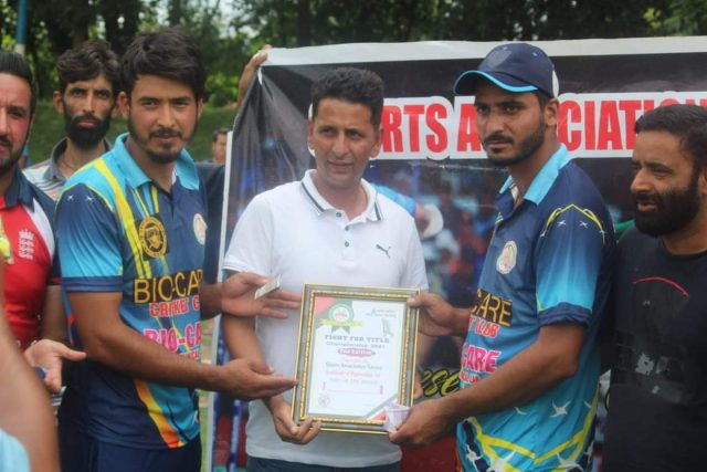 Bio-Care CC pull off a last-over win in a thrilling encounter against Sultan Warriors Srinagar. Pic/KSW