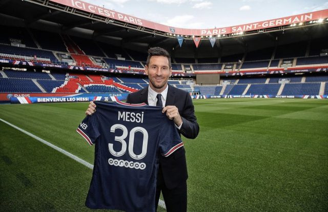 Lionel Messi PSG jersey sold out in 30 minutes. Pic/Twitter