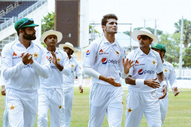 Shaheen Afridi puts Pakistan in driver seat, on final day West Indies need 280 to win, Pak 9-wkts. Pic/ICC