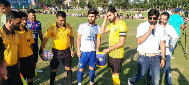 Real Kashmir FC beat Arco FC in GNW Invitation cup opener. Pic/KSW