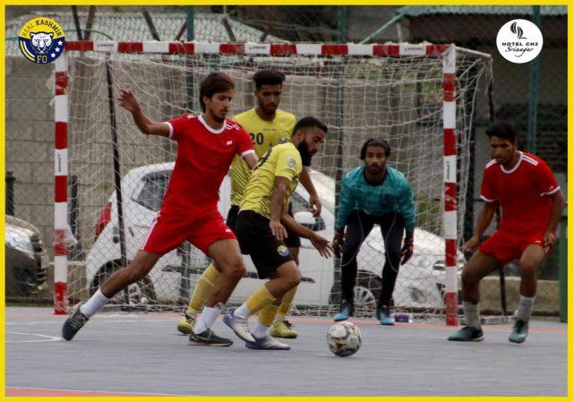 Futsal: Real Kashmir FC beat Solina FC by 10-2. Pic/KSW