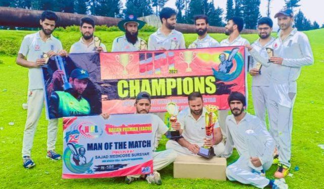 Haijan League: Uzair-XI beat Denters XI in final. Pic/HPL