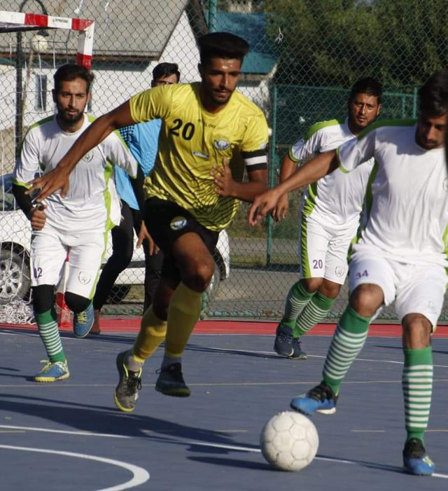 Futsal: Real Kashmir FC thrash Shahr-e-Khaas FC by 16-1 goals. Pic/KSW