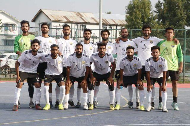 Futsal Championship: Real Kashmir FC thrash Sports Council-XI by 9-4 goals. Pic/KSW