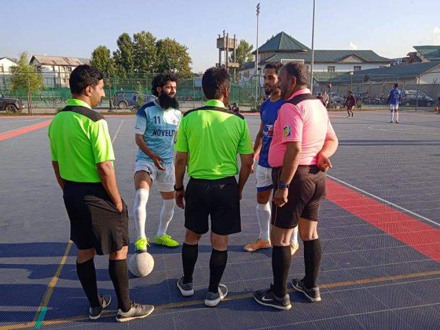 Futsal: Hyderya Sports, Real Kashmir FC, Solina win matches. Pic/KSW