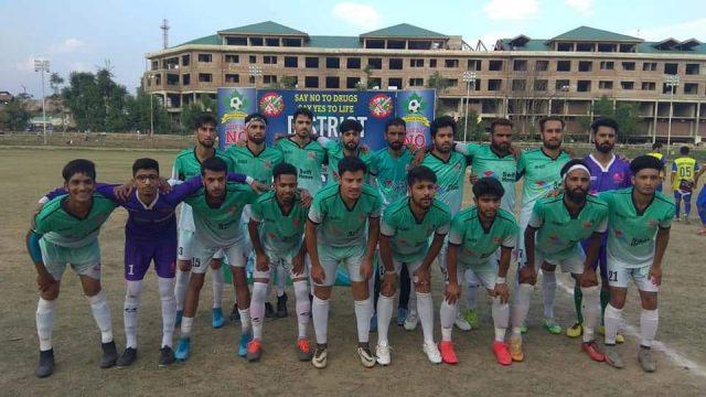 NB Jiddah beat Kashmir Panthers FC in Anantnag champions tourney. Pic/KSW