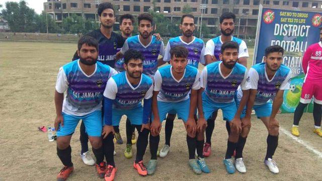 Ali Jaana FC beat Dialgham FC in Anantnag knockout tourney. Pic/KSW