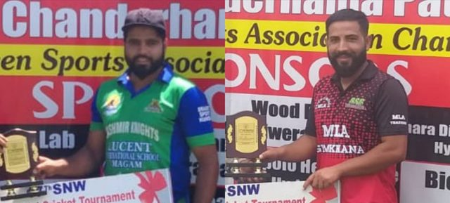 SNW Tourney: Kashmir Knights and MLACC Budgam win matches. Pic/KSW