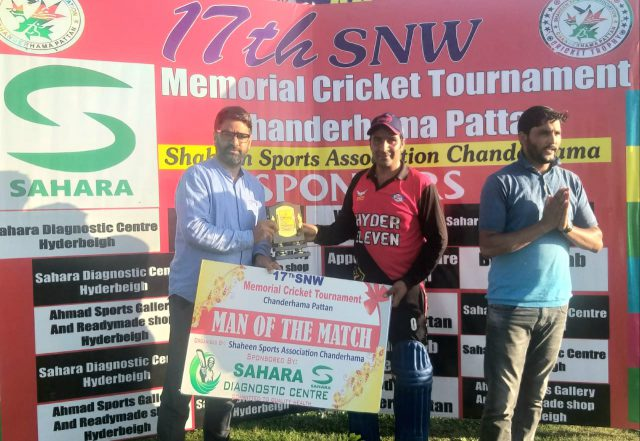 SNW Tourney: Imtiyaz Malla's heroics lead Masters XI Ompora to thrilling win. Pic/KSW