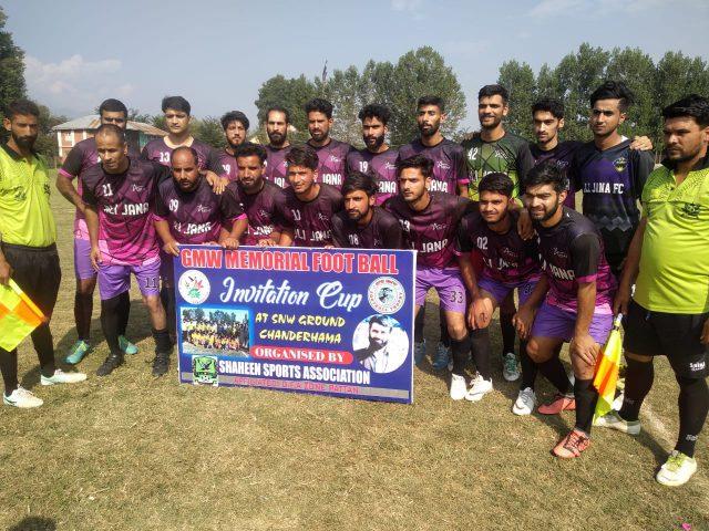 6th GMW Cup : Ali Jana FC beat Batwina FC Ganderbal. Pic/KSW