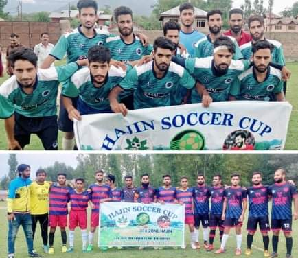 Hajin Soccer Cup: Panzipora FC , Real Baghat FC win matches. Pic/KSW