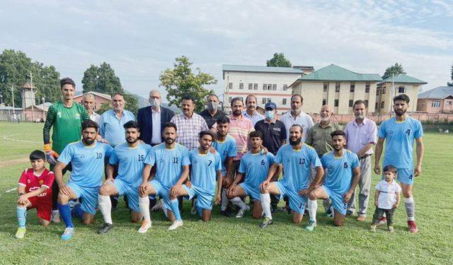 Badamwari FC lifts Badamwari knockout football tourney title. Pic/KSW