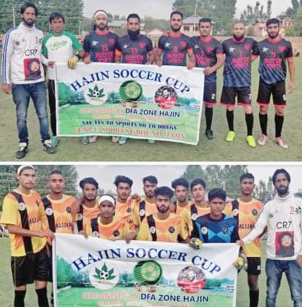 Hajin Soccer Cup: FC Ganderbal Academy beat Real Baghat FC. Pic/KSW